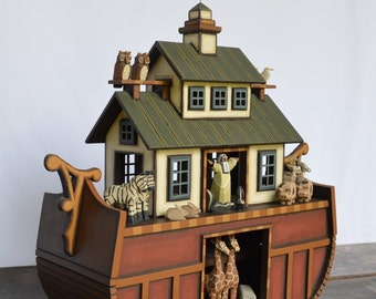 Wood Noah's Ark Hand Crafted