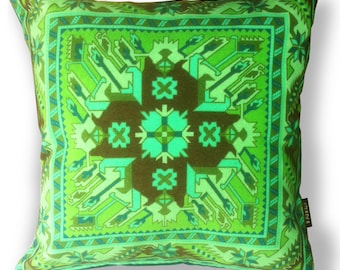 Green velvet cushion cover SPRING