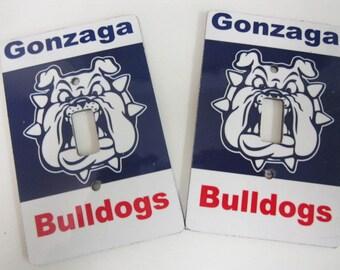 2 light switch covers, Gonzaga Bulldogs design