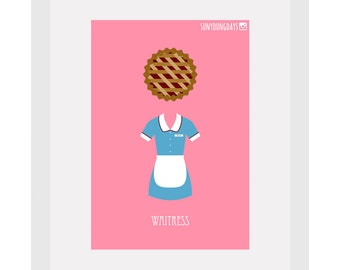 waitress movie poster postcard 4'X6'