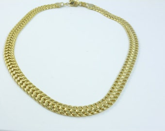 Gold  Necklace, Gold Choker, Collar Necklace,Vintage Jewelry