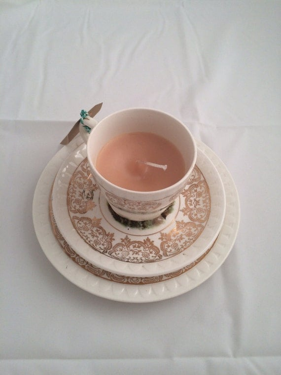 Wedding Favors Teacup Candle Scented Tea Cup Candle Vintage Teacup And