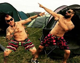 Mens crochet shorts ideal for festival season