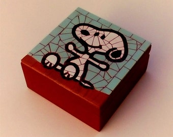 Snoopy mosaic jewelry box