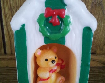 Candle Bear/w House