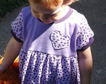 Purple Heart Dress Size 18 mo-3T