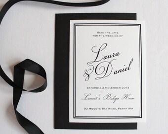 Black & White Classic Elegant Save the date Set
