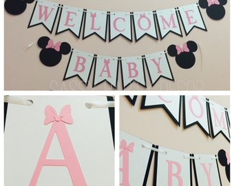 Minnie Mouse Baby Shower Banner, Minnie Mouse Banner, Minnie Mouse Shower