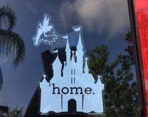 Disney Is My Home Car Sticker, UV Resistant, Outdoor
