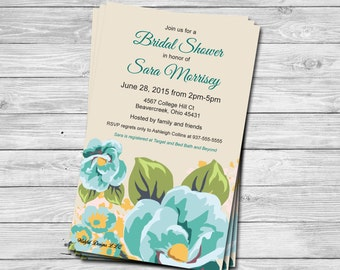 Floral Bridal Shower Invitation set