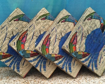 Blue Crab Coasters Set of 4