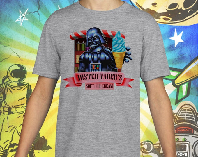 Mister Vader Soft Ice Cream Gray Kid's T-Shirt