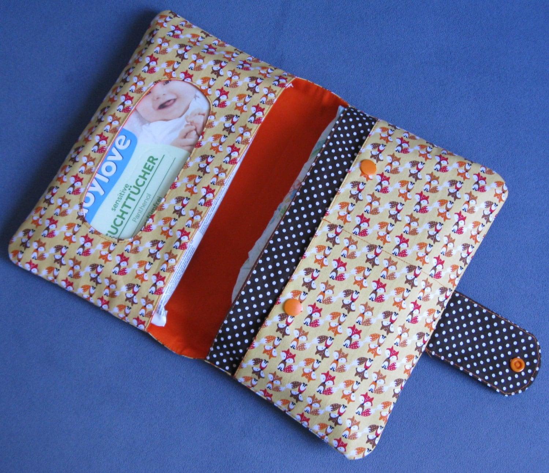 diaper clutch diaper bag diaper wipes bag foxes. Black Bedroom Furniture Sets. Home Design Ideas