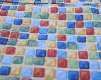 Colorful Cube Print Fabric coasters - Set of 6