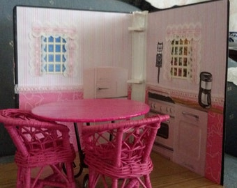Barbie Doll Houses with hand made furniture.
