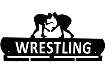 Wrestling Medal Hanger Display, Holder, Sports, Wrestling Gifts, WWE, Olympics