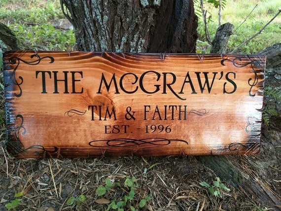 "Family name sign (18""x8"")"