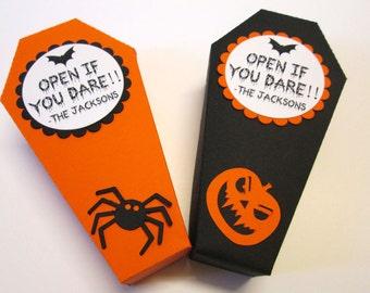 Personalized Halloween Treat Boxes, Halloween Coffin Box, Halloween Party Favors Halloween Favors, Coffin Treat Box, Trick or Treat Gift Box