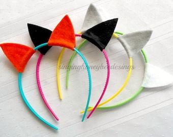 kitty party ears, Cat ears headband, Kitty party headbands, kitty birthday party, kitty party favors, kitty cat headband, dress up play