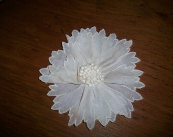 1-1920s antique lace embroidered starched batiste applique 3-dimensional