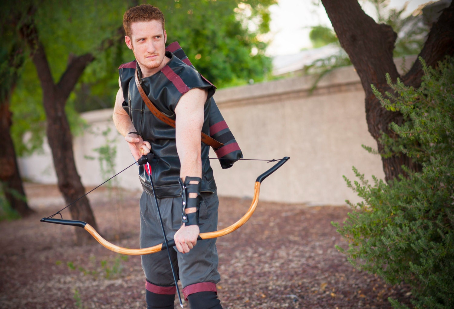 Functional mongolian style horse bow made of pvc pipe with for Pvc pipe bow plans