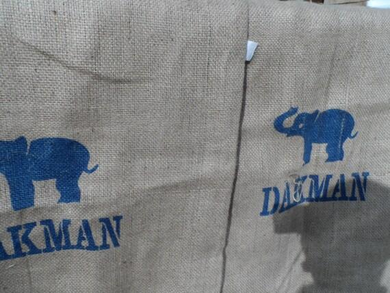 Large Hessian Or Burlap Coffee Sack Dakman Elephant