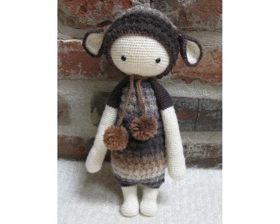 Amigurumi Sheep Doll : Lupo the Lamb Lalylala Amigurumi Crocheted Doll/sheep