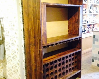 Reclaimed Wood Wine Cabinet