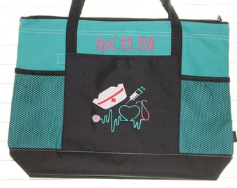 Personalized Nurse Tote Bag
