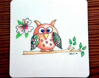 Owl Art Etsy