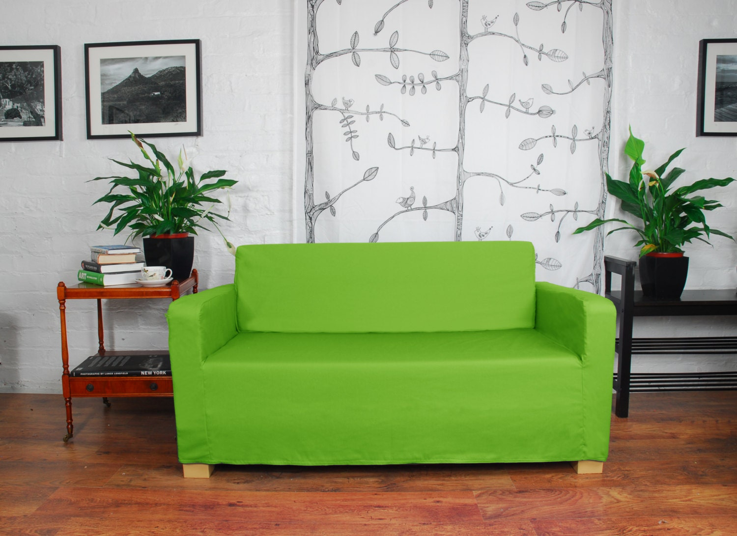 ikea solsta sofa bed slip cover in 20 colours by hipicainteriors. Black Bedroom Furniture Sets. Home Design Ideas