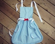 Wizard of Oz Costume Apron- Disney Inspired- Dress Up- Kids Apron - Dorothy