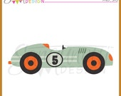Retro Race Car Clipart Commercial Use License Included