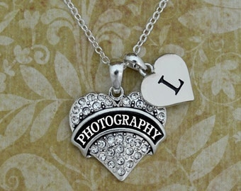 Custom Initial Photography Necklace