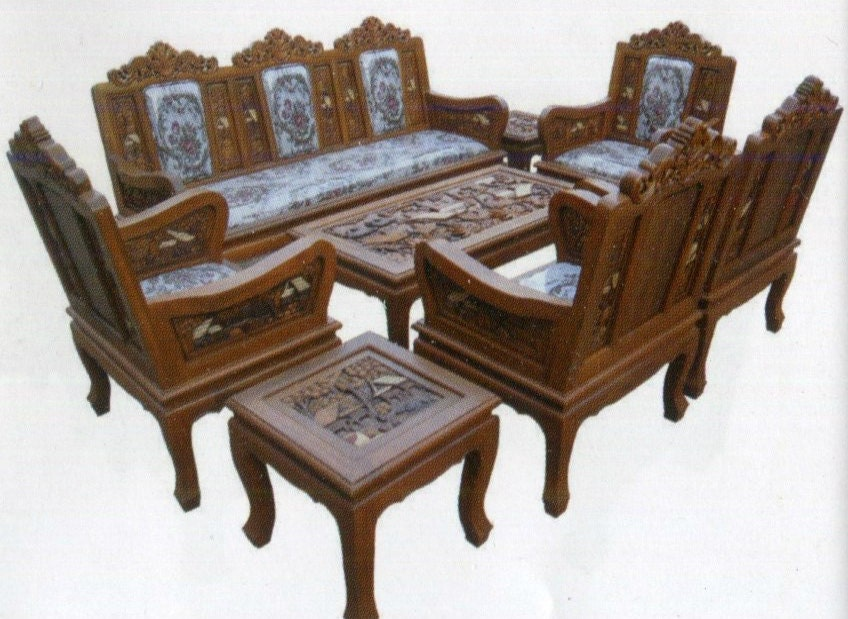 Carved Teak Wood Living Room Furniture With Beautiful Country Details. (2  Inches Of Thicknesses Part 79