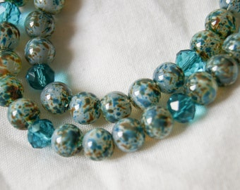 2 Tier Beaded Glass Necklace