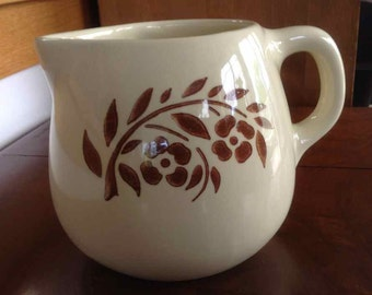 Vintage Ceramic Creamer or Milk Pitcher - Made in USA - Mid-Century