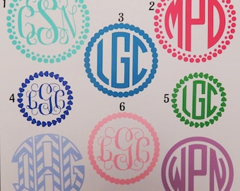 Monogram Car Decal, Vinyl Car Decal, Vinyl Decal, Outdoor Vinyl Decal
