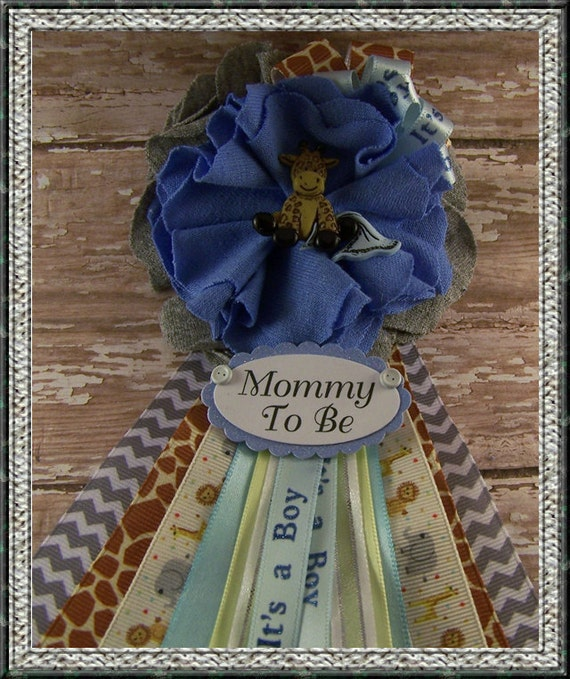 Safari Baby Shower Corsage: Giraffe Mommy To Be Corsage Baby Shower Corsage Safari