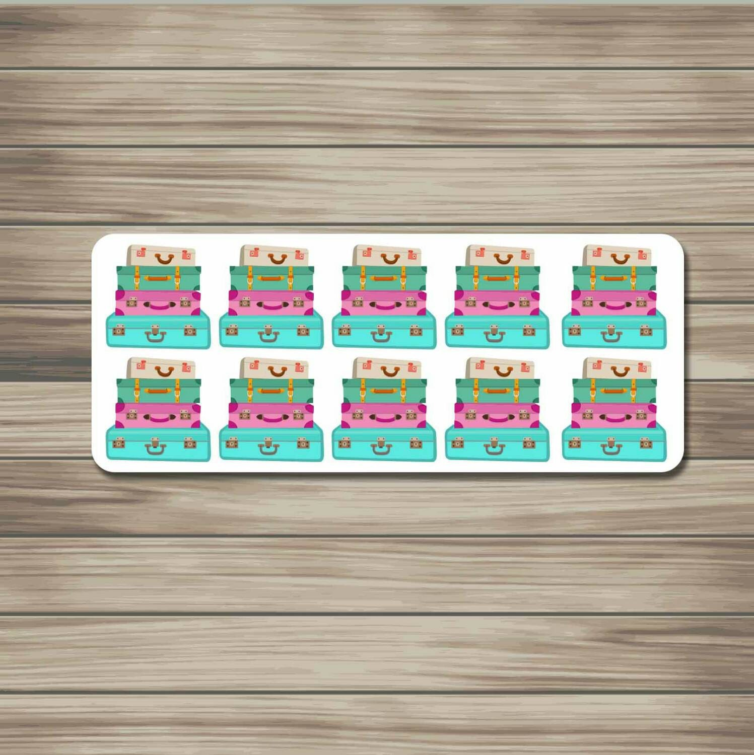 Travel Suitcase Luggage Planner Stickers By