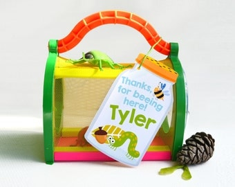 Bug Party Favor Tag - Gift Tag, Hang Tags, Thank You Tags, boy's bug party