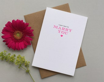 Wife to be wedding card - Husband to be wedding card - I can't wait to marry you card - Wedding day card for bride or groom
