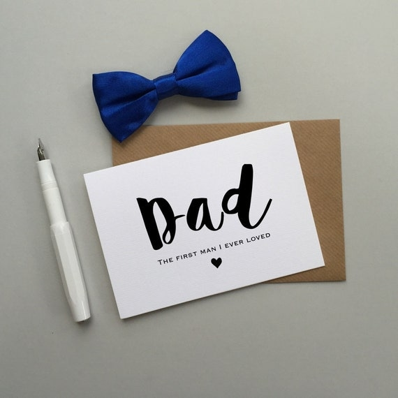 To my Dad on my wedding day card. Wedding card for Dad. Wedding card for Father. First man I ever loved wedding card for Dad.