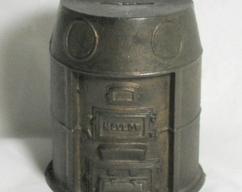 MELLO FURNACE BANK; A cast Iron Bank