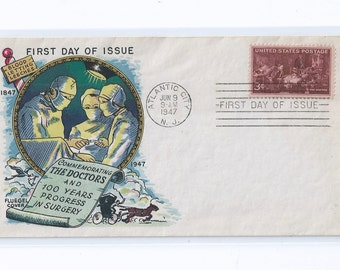 Doctors AMA Ida Fluegel First Day Cover Atlantic City 1947