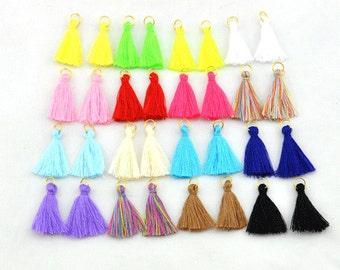 19 Color Mini Tassels, DIY Craft Supplies Jewelry tassels Short Boho tassels Small tassels Fringe Trim --S246