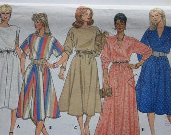 Butterick 6510 - UNCUT Pattern for Misses  Dress Five Variations - 1980's Dress
