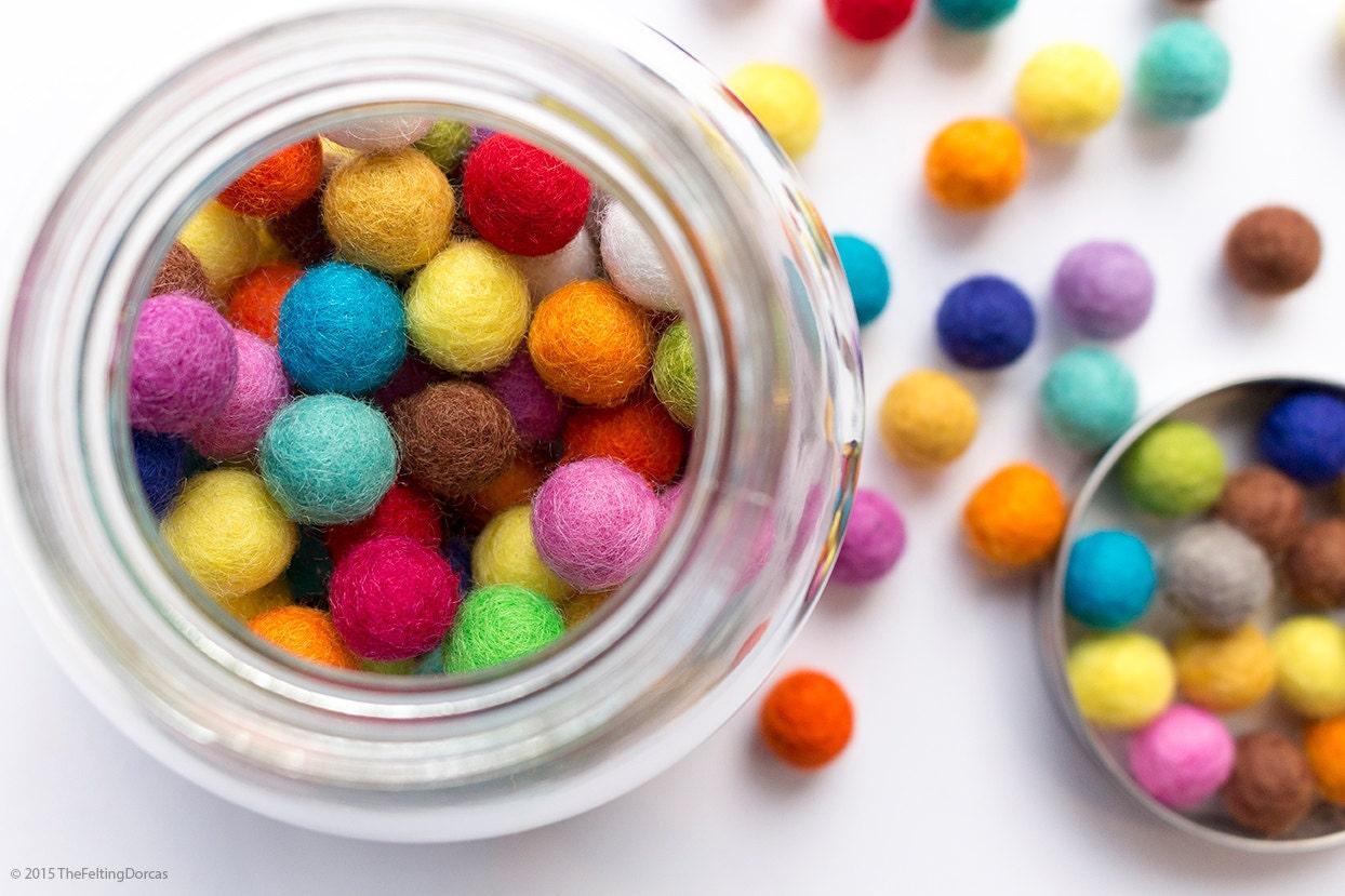Craft beads in bulk - 1cm Wool Felt Ball X 150 Multicolour 10mm Felt Balls Mixed Colour Wool Pom Pom Gumball Beads Wholesale Bulk Craft Coaster Diy