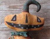 Extreme Primitive doll - Jacques o' Lantern - Pumpkin doll - FFFOFG