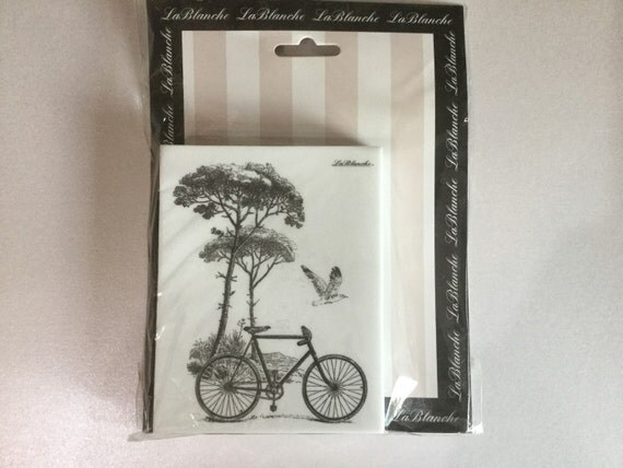 La Blanche country bicycle silicon stamp